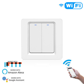WiFi Smart Light Switch Push Button Smart Life/Tuya APP Remote Control Works with Alexa Google Home for Voice Control 7