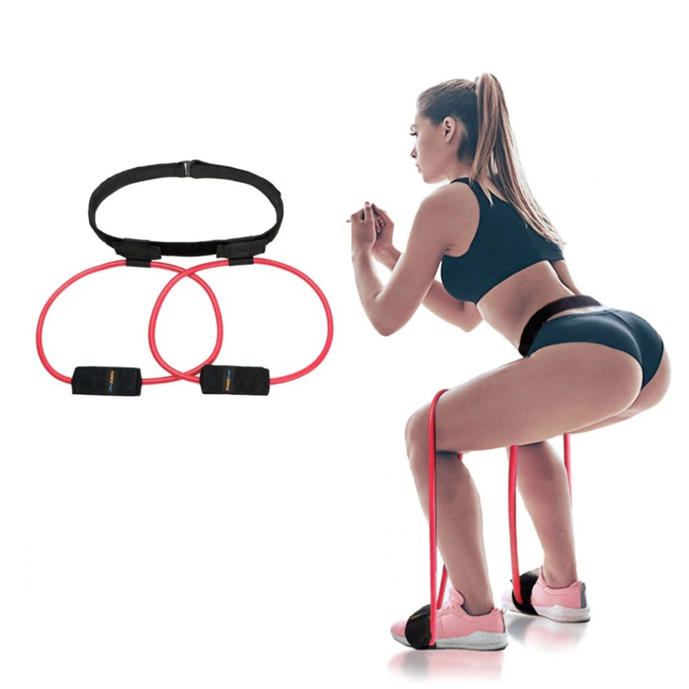 Fitness Women Booty Butt Band Resistance Bands Adjustable Waist Belt Powerful Butt Lift Muscle Hips Leg Workout Exercise Bands image