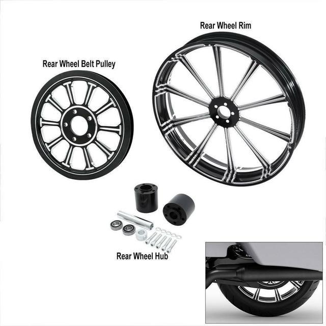 Motorcycle Rear Wheel Rim w/ Hub Set 4