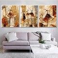 RUOPOTY 3PC Rahmen DIY Malerei Durch Zahlen Für Erwachsene Ballett Wand Kunst Bild Acryl Malen Nach Zahlen Kits Für hause Dekoration