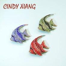 CINDY XIANG-broches pour poissons tropicaux en strass, broches pour animaux colorés, haute qualité
