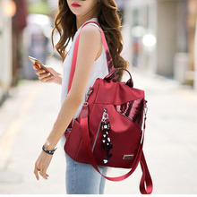 Simple style ladies backpack anti-theft Oxford cloth tarpaul