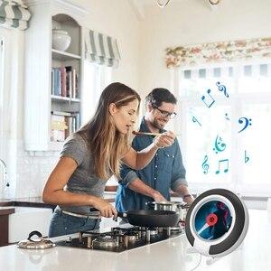 Image 2 - Taşınabilir CD çalar Bluetooth ile duvara monte FM radyo dahili HiFi hoparlörler uzaktan kumanda kulaklık jakı