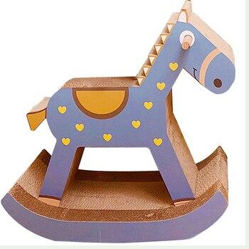 Big Trojan cat scratching plate claw   toy wear corrugated paper  climbing frame grab column