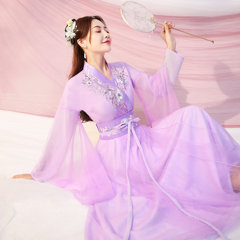 Women Chinese Style Hanfu Traditional Dance Costume Han Nationality\'S Princess Clothing Oriental Tang Dynasty Fairy Dresses Outfit