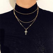 Женское ожерелье с подвеской многослойные аксессуары ювелирные