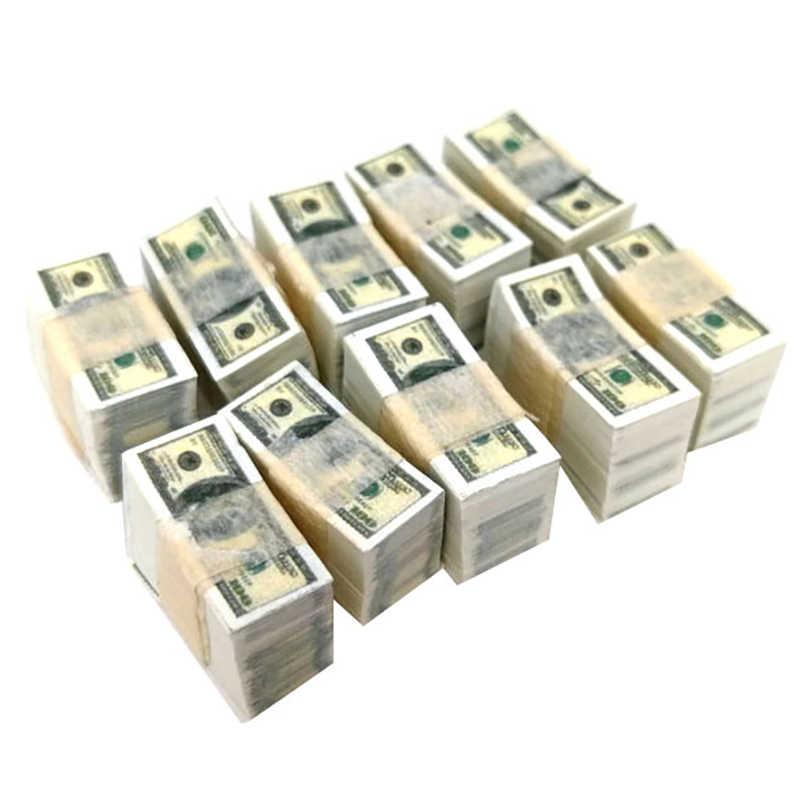 1:12Dollhouse Miniature Game Simulation Model Fake Dollar Tool Set For kids