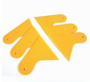 1pc Wrapping Film Application Squeegee Scraper Tools Bubble Window Car Stickers Scraper Plate Glass Yellow Plastic Film Tools image
