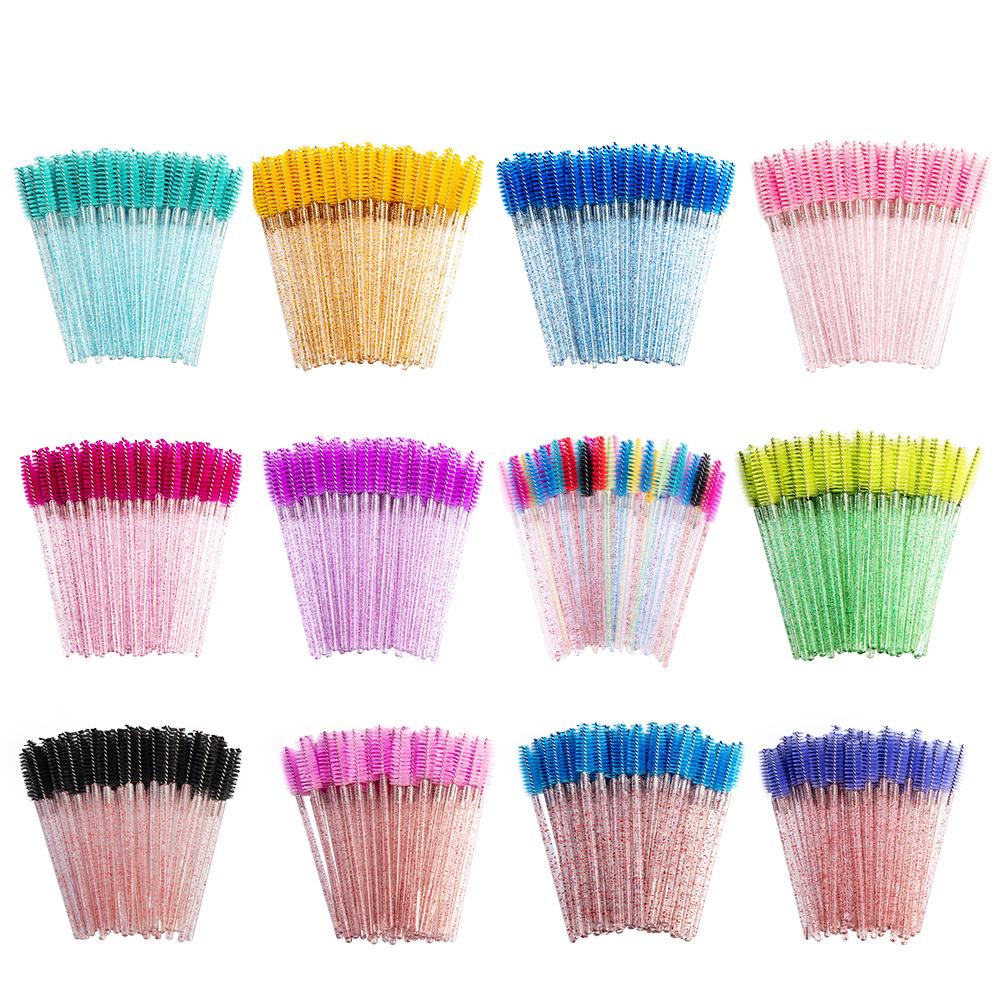 50Pcs Disposable Eyelash Brushes Eyelashes Extension Tools Eyebrow Brush Mascara Wands Applicator Spoolers Eye Lashes Cosmetic