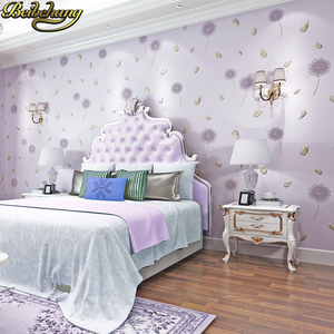 Image 2 - beibehang wall paper papel de parede 3D Non woven wallpaper warm rural dandelion living room bedroom wall paper TV background