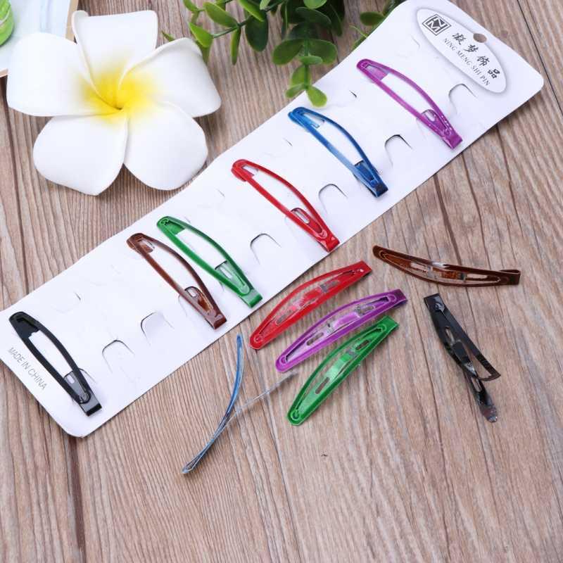 12 шт./лот детские заколки цветной металлический заколки для волос красивые заколки DXAD