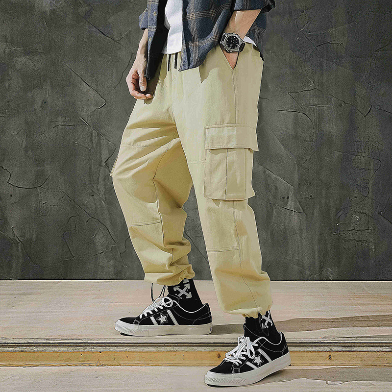 2019 Autumn New Style Japanese-style Popular Brand Casual Pants Men's Loose And Plus-sized MEN'S Trousers Drawstring Skinny Pant