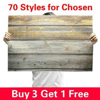 [Acheter 3 obtenir 1 gratuit] 57X87cm photographie toile de fond 2 côtés Photo fond bois Grain étanche décors papier pour Studio Photo