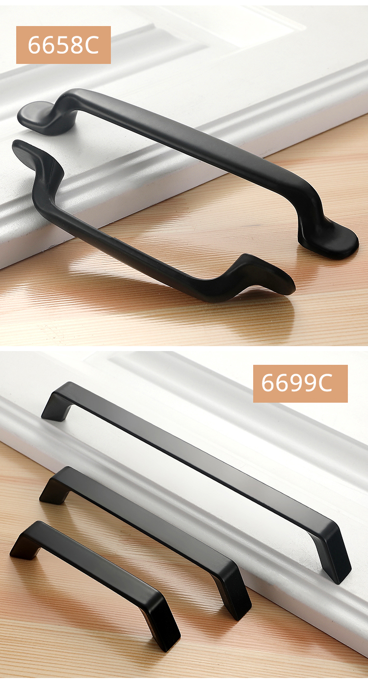 Hd583f343298740c4bfd9bfecf1349d79n - American Style Black Cabinet Handles Solid Aluminum Alloy Kitchen Cupboard Pulls Drawer Knobs Furniture Handle Hardware