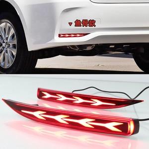 Image 5 - 2PCS Auto LED Reflektor Für Toyota Corolla 2019 2020 Auto LED Hinten Nebel Lampe Bumper Licht Bremsleuchte Dynamische blinker