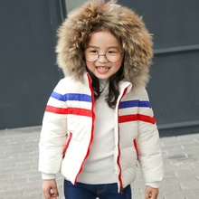 цена 2019 Winter Baby Down Jacket For Girls White Duck Down Warm Infant Girls Coat 1-6 Years Kids Boys Outerwear Parka For Girls онлайн в 2017 году