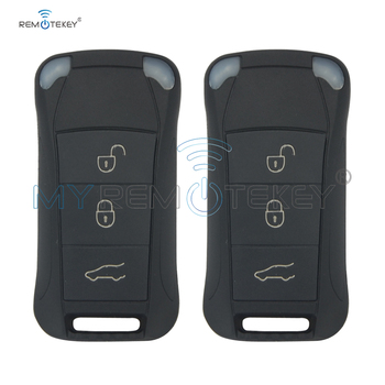 Remtekey 2pcs remote key 3 button 434MHZ for Porsche key for Cayenne car key 2003-2012 flip remote car key