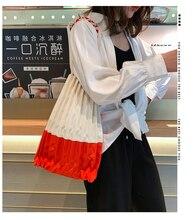 New women's bag Japanese Designer Fold pack Canvas bag Environmental protection shopping bag Simplicity Wild Joker portable Sing