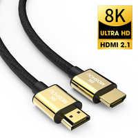 Cable de HDMI 2,1 8K 60Hz 4K 120Hz 48Gbps, Cable de vídeo MOSHOU HDR para amplificador TV PS4 PS5 NS proyector de alta definición