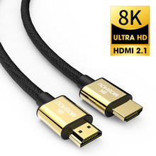 HDMI 2.1 Cable 8K 60Hz 4K 120Hz 48Gbps ARC MOSHOU HDR Video Cord for Amplifier TV PS4 PS5 RTX3080 NS Projector High Definition