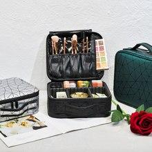 Nova bolsa de maquiagem feminina viagem de grande capacidade necessária à prova dwaterproof água caso cosmético