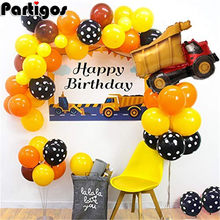 Bau Fahrzeug Bagger Geburtstag Party Dekorationen Kinder Junge Latex Ballons Junge Gebäude Thema Luftballons Kinder Party