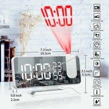 Mrosaa LED réveil numérique montre Table horloges de bureau électroniques USB réveil FM Radio projecteur Snooze fonction reveil enfant horloge numérique radio reveil reveille matin numerique reveil projecteur plafond