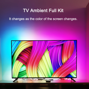 Iluminação de viés ambiente tela sonho diy usb ws2812b 5v rgb led strip kit backlight dinâmico 4k hdtv para tv hdmi-fontes compatíveis