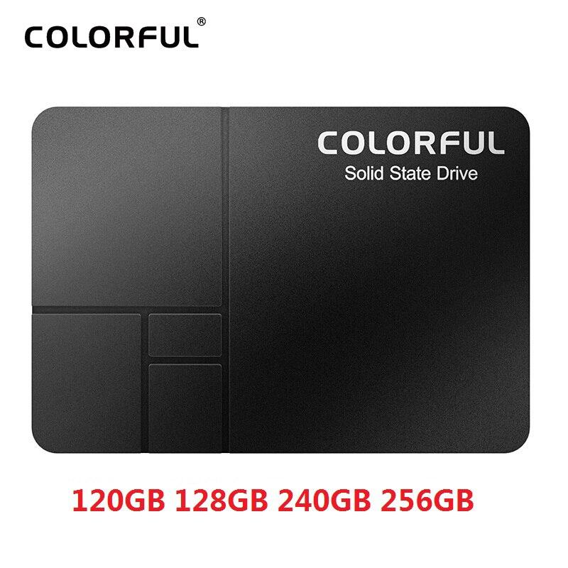 Цветной SSD 120 ГБ 128 ГБ 240 ГБ 256 Гб жесткий диск внутренний ноутбук SATA2 Настольный Hd 2,5