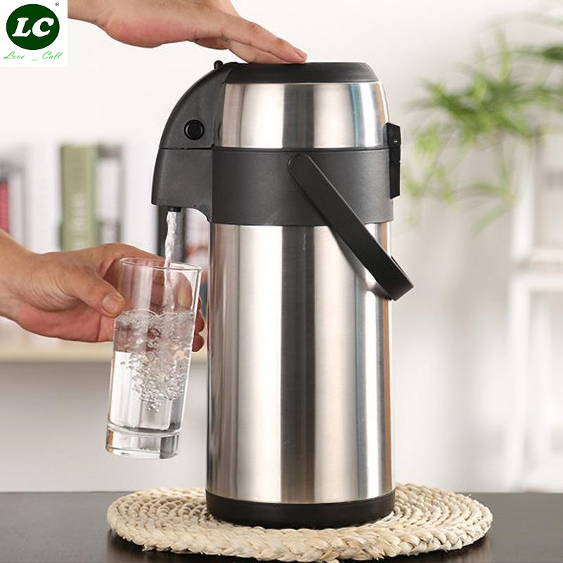 3L Pressure Type Stainless Steel Thermos Household Insulation Bottle Large Capacity Keep Warm Water Pot Coffee Thermal Kettle