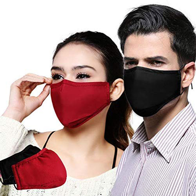 Adjustable Face Mask Filtration Cotton Mask with Nose Piece Adults Children Color Random Filter Insert Mask