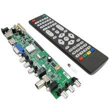 MOOL 3663 جديد الرقمية إشارة DVB C DVB T2 DVB T العالمي LCD TV تحكم سائق مجلس ترقية 3463A الروسية USB LUA63A82