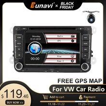 "Eunavi autoradio 7 "", Navigation GPS, DVD, RDS, lecteur multimédia, 2 din, pour voiture VW/Volkswagen GOLF 6 Polo, nouvelle Bora, JETTA, PASSAT B6, SKODA"