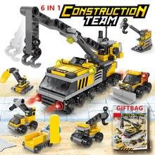142 шт 6 в 1 наборы строительных блоков городская строительная