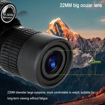 2021 Borwolf 12-36X50 Binoculars BAK4 Prism Optical Lens High Power Hunting Birdwatching Monocular Light Night Vision Telescope 5