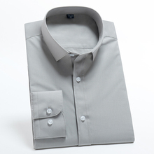Office-Shirt Smooth-Cotton-Blend Work Long-Sleeve Vitality Standard-Fit Casual Youthful