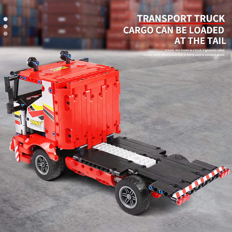MOULD KING 15003 APP High-Tech Car Model The Transport Truck With Motor Function Parts