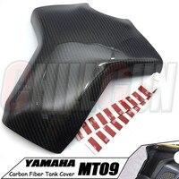 Motorcycle Accessories Carbon Fiber Tank Cover Case Fuel Pad Protectors For YAMAHA MT09 13 17 MT09 FZ09 2013 2017