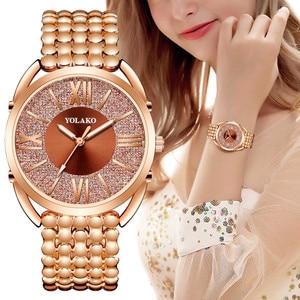 Luxury Women's Watches Bracelet Casual Quartz Watch Stainless Steel Analog Wrist Watch Gift Ladies Clock Female Watches Relogio