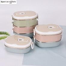 Boîte à déjeuner pour enfants, boîte à Bento Portable en acier inoxydable pour l'extérieur récipient alimentaire étanche boîte à nourriture de cuisine