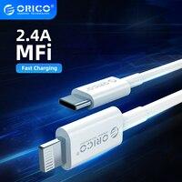 Cavo di illuminazione MFi ORICO per iPhone 12 2.4A cavo dati caricabatterie USB a ricarica rapida per iPhone 12 Pro Max 11 XR XS cavo di ricarica USB