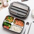 Контейнер для еды  Ланч-бокс из нержавеющей стали  портативный  для пикника  офиса  школы  контейнер для еды с отделениями  термо-бокс для бен...