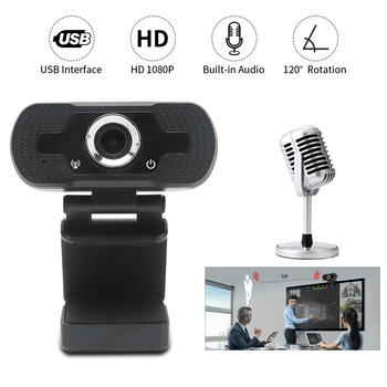 Webcam Full HD 1080P USB Wed Camera 3D PC Youtube Auto Focus Camera For computer With Noise Reduction Microphone