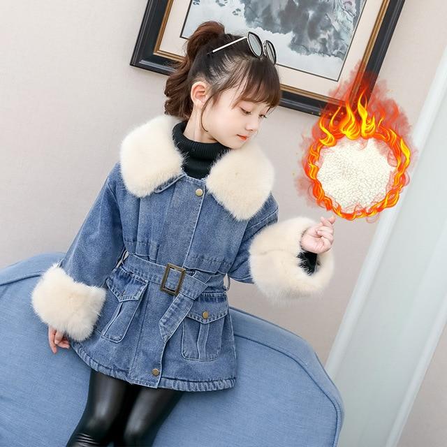 Le Ragazze Giacca Cappotto Imbottito Inverno Pelliccia con cappuccio età 2-3 anni nuovo con cintura Scuola Nuovo