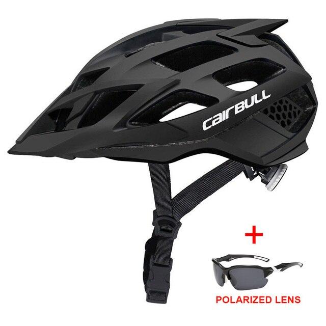 Mais novo trilha xc mtb capacete de bicicleta com óculos de sol ultraleve estrada da bicicleta de montanha capacete in-mold corrida ciclismo capacetes 4