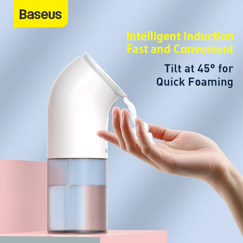 Baseus Intelligent Automatic Liquid Soap Dispenser Induction Foaming Hand Washing Device For Kitchen Bathroom (Without Liquid)