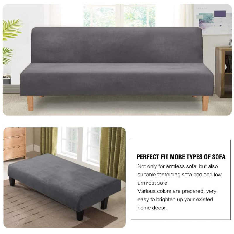 العالمي المخملية أفخم غطاء بدون ذراع فوتون تمتد أريكة سرير الغلاف رخيصة مقعد الأريكة حامي غطاء فوتون مرنة