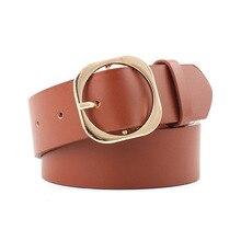 Fashionable Trend Designer Belt Women High Quality Square Buckle Width Belt Female Belt For Jeans Waist Waistband Lady