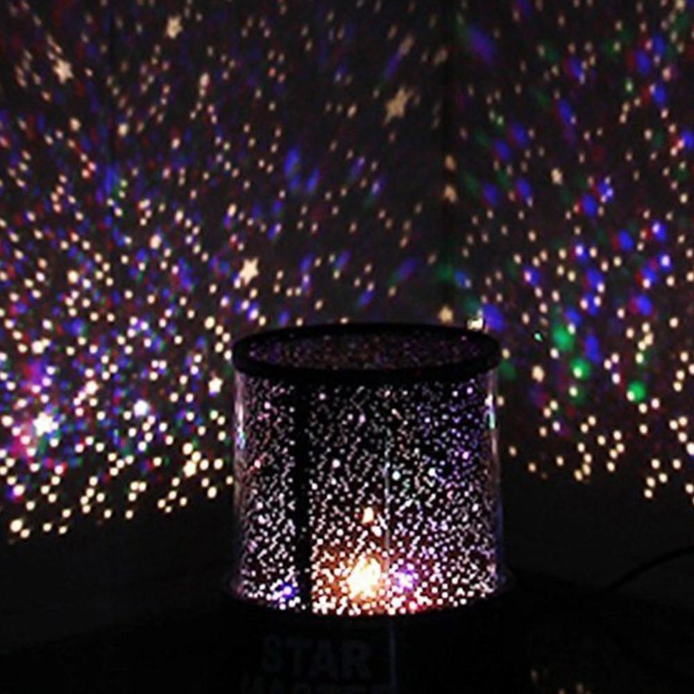Colorful Romantic Amazing Cosmos Moon Master Star Sky Projector Children Universal Night Kid Christmas Present Gift Lamp Light