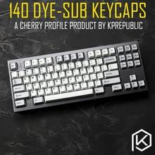 Kprepublic 139 Cherry profilo Dye Sub Keycap Set di spessore PBT tastiera di plastica gh60 xd60 xd84 cospad tada68 rs96 zz96 87 104 fc660